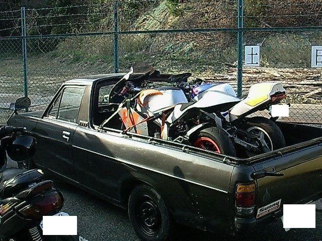 過去のバイクトランポ2 サニートラック
