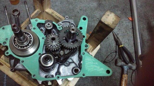 NSR50、NS-1の改造 クラッチ、キック